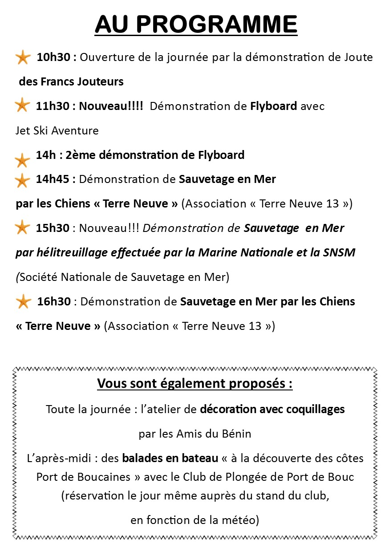 programme Nautiques