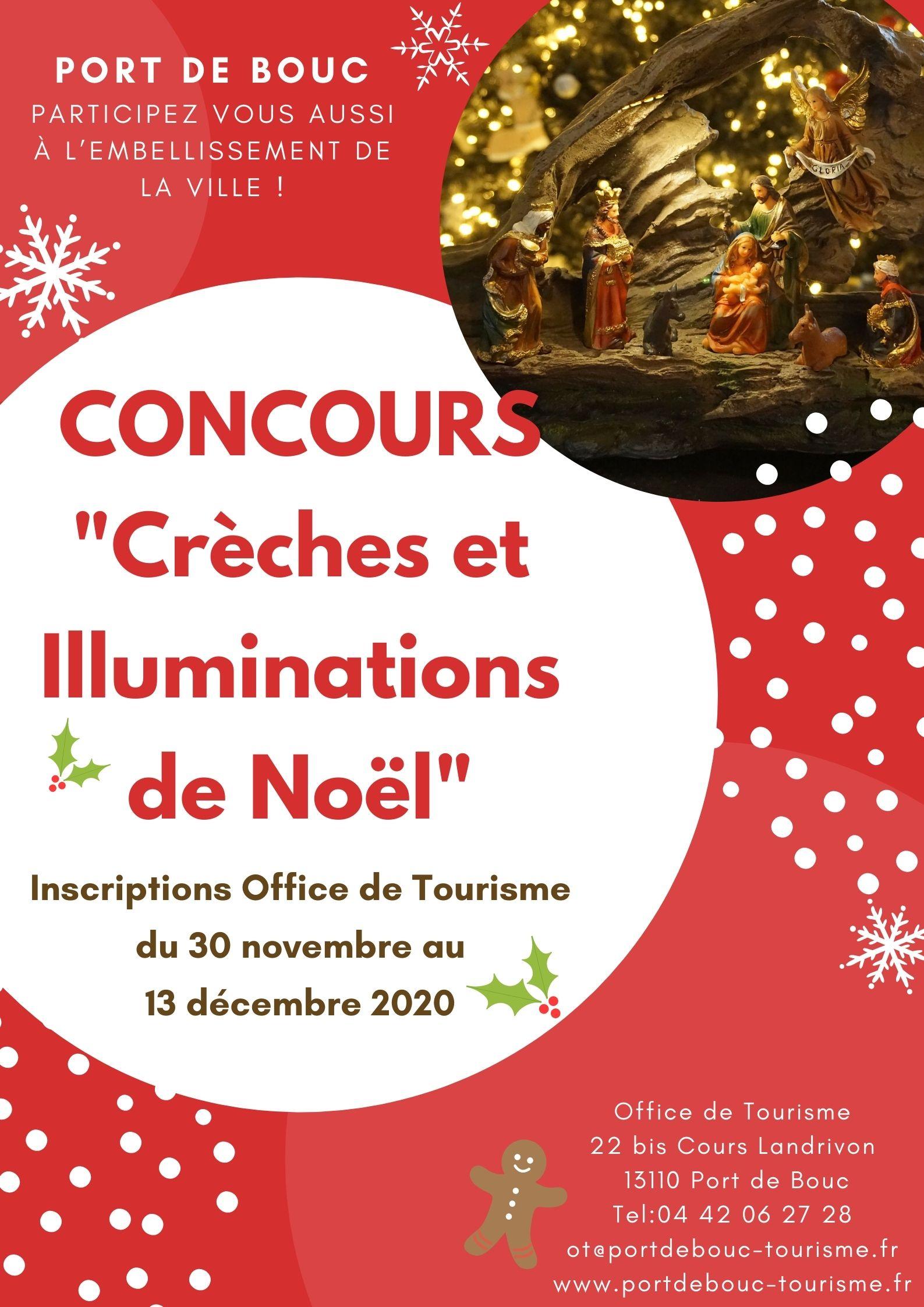 Affiche concours crèches et illuminations de noël