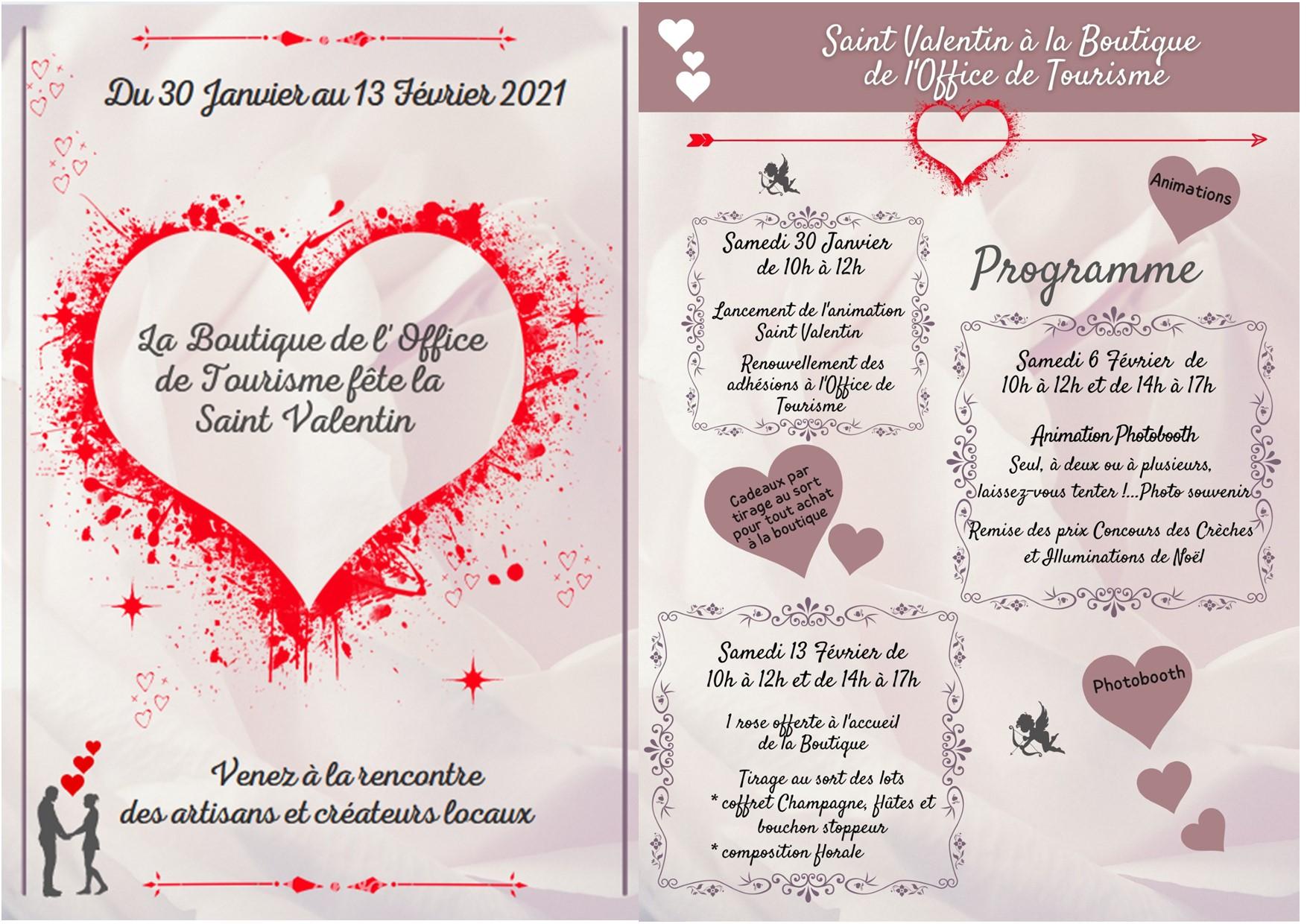 Programme Boutique St Valentin