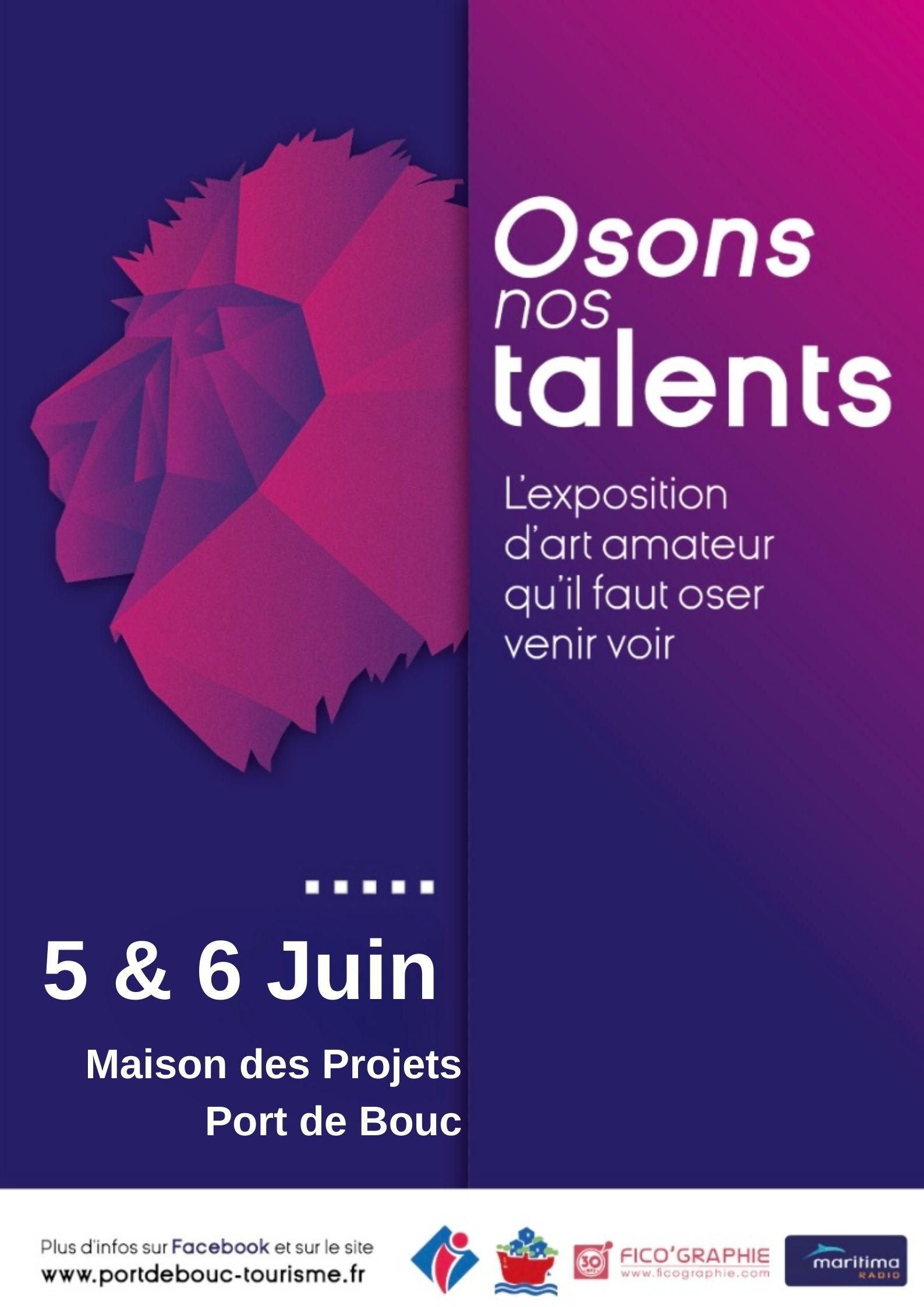 affiche osons nos talents 5 et 6 juin